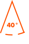 Horizontal field of view: 40°