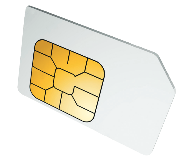 SIM card for mobile call & data packages