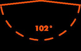 Horizontal field of view: 102°